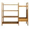 Oceanstar 4 Tier Bamboo Shoe Storage with Umbrella Stand