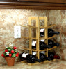 Oceanstar 12-Bottle Natural Bamboo Wine Rack WR1149
