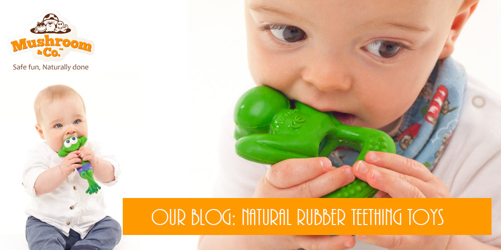natural Rubber Teethers | Organic Baby Teething Toys