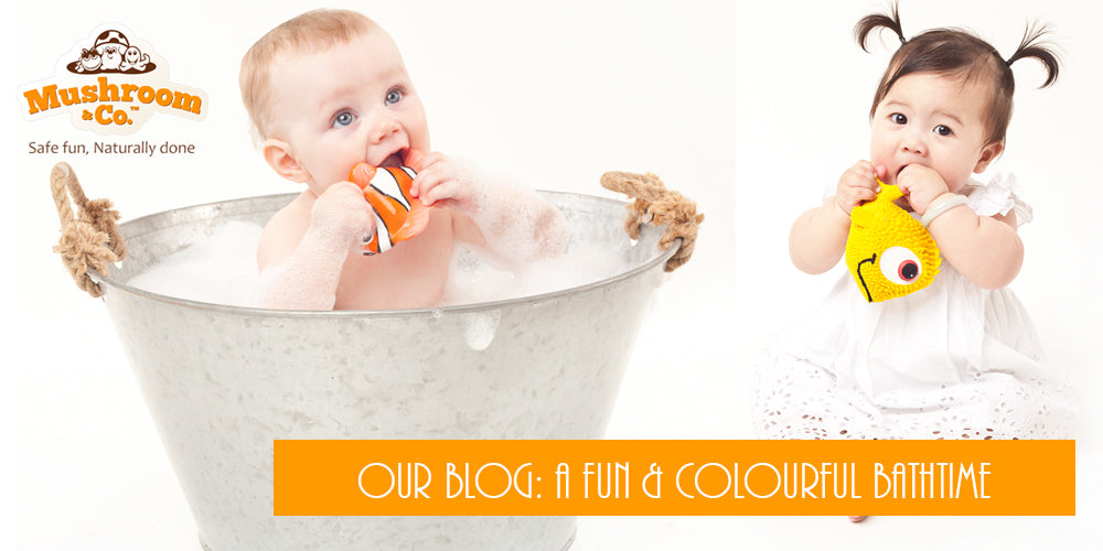 Bathtime Fun with Organic Natural Rubber Bath Toys