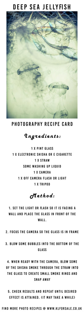 Deep Sea Jellyfish Photo Recipe Card