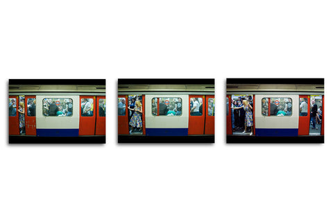 Last Night of the Tube Triptych - ALUMINIUM PRINT