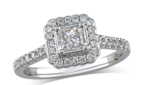 Cluster Cut Engagement ring
