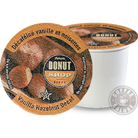 Authentic Donut Shop Vanilla Hazelnut Decaf K cup