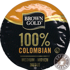 Brown Gold Columbian Kcup