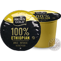 Brown Gold Ethiopian Kcup