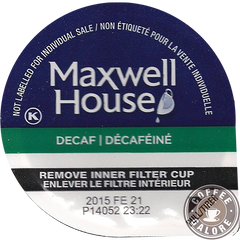 Maxwell House Decaf House Blend Kcup