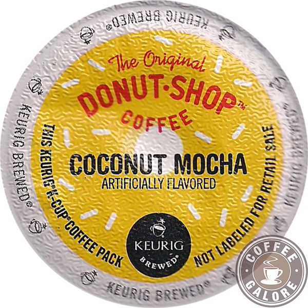 Donut Shop Coconut Mocha Coffee Galore