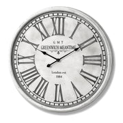 Large round white wall clock