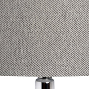 Modern herringbone lamp shade - large drum style