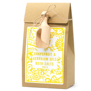 500g Bath Salt - Grapefruit and Geranium Oils