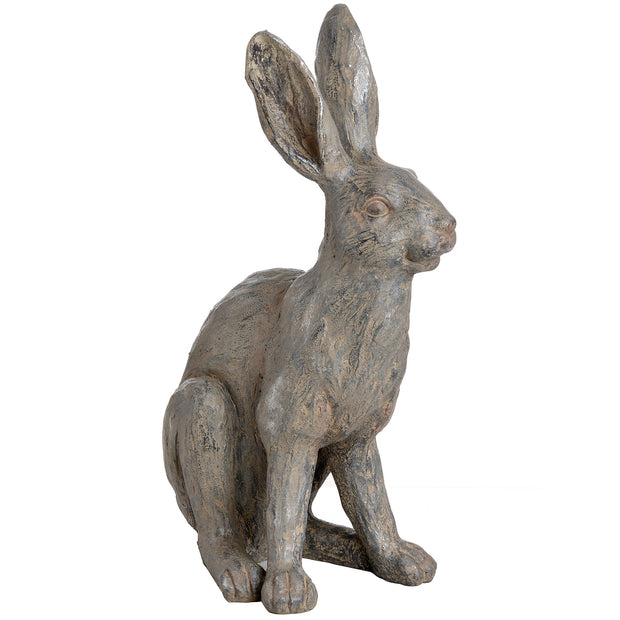 Large Metallic Hare Statue