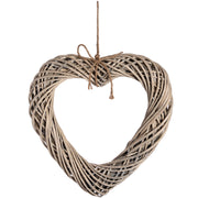 Large Wicker Hanging Heart with Rope Detail