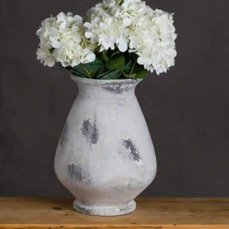 Naxos Large Antique White Vase