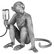 Silver Jungle Monkey Table Lamp