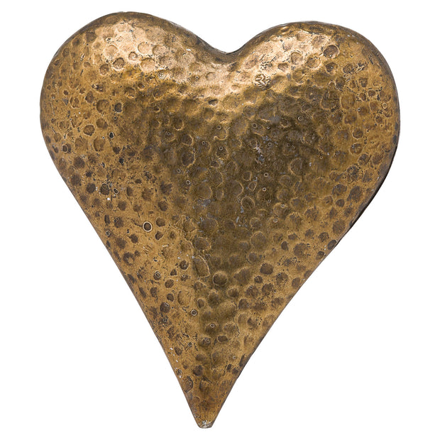 Beautiful Antiqued Bronze Display Heart