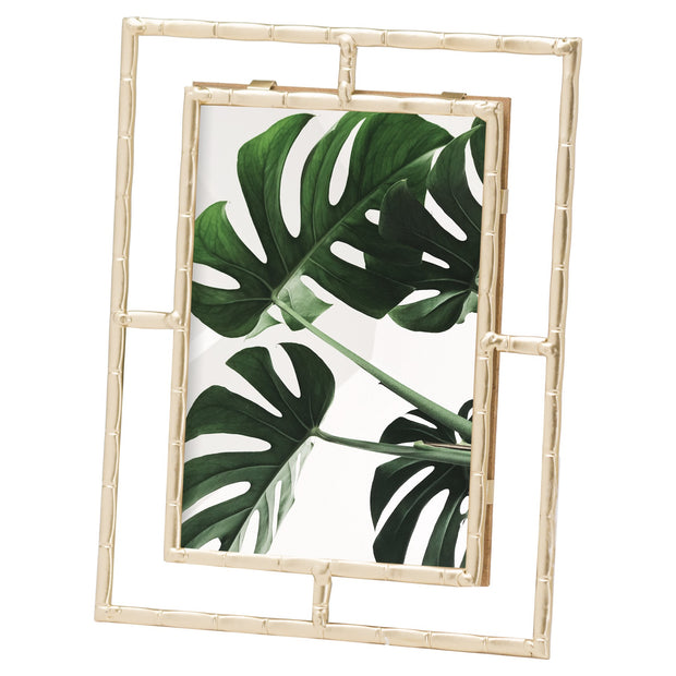 Gold Open Edge Bamboo Photo Frame 5X7