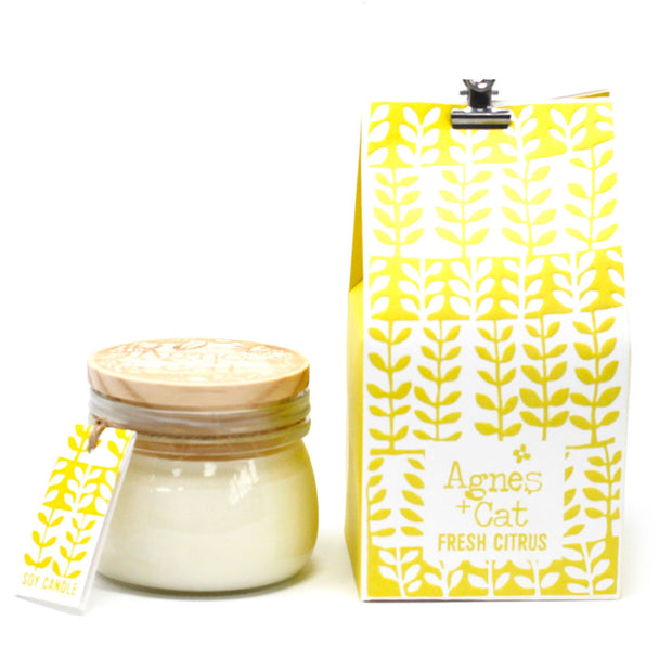 Agnes & Cat Fresh Citrus Soy Candle