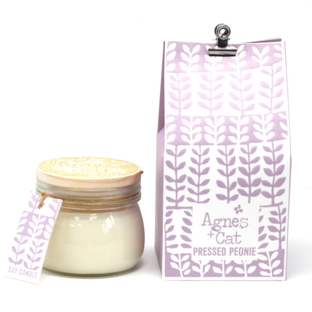 Agnes & Cat Pressed Peonie Soy Candle