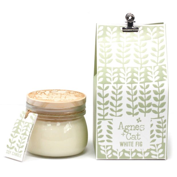 Agnes & Cat White Fig Soy Candle