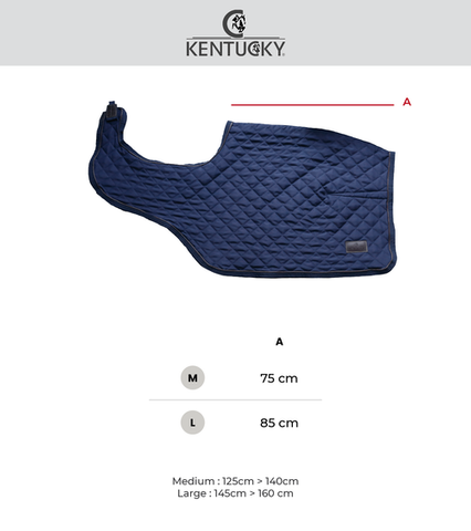 Riding rug size chart