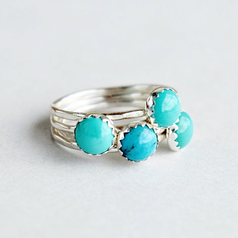 Turquoise Stacking Ring | round