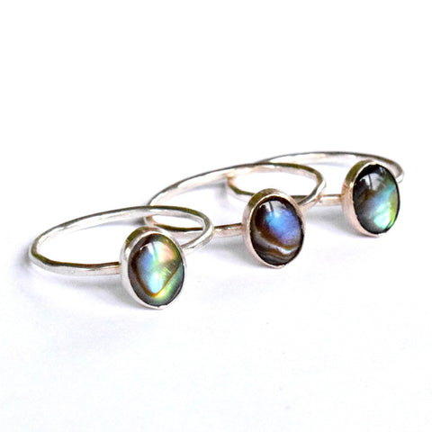 Abalone Stacking Ring | oval