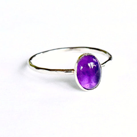 Amethyst Stacking Ring | oval