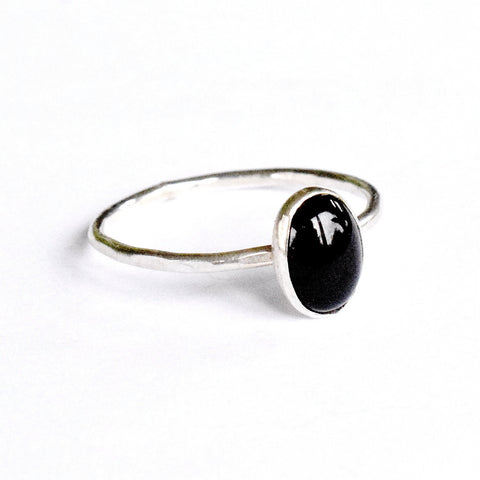 Black Onyx Stacking Ring | oval
