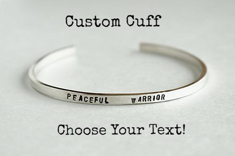 Custom Stamped Cuff Bracelet | Sterling Silver