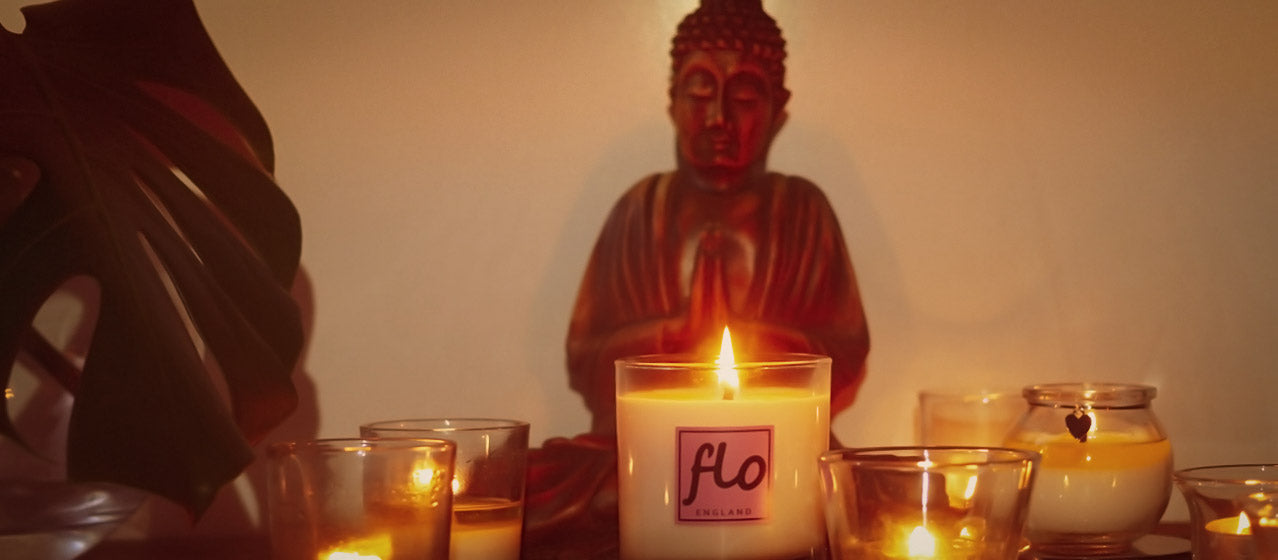 candle meditation - natural scented candles - aromatherapy candles
