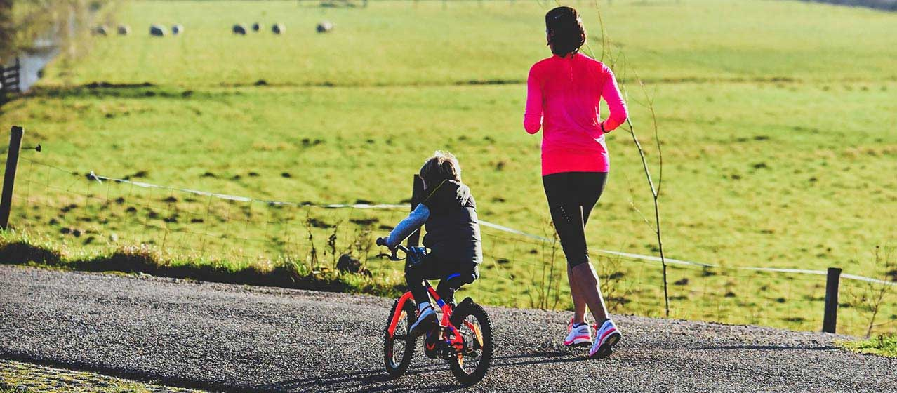 running in the park - wellbeing