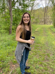 Teracyn Stout Laughing with Coffee