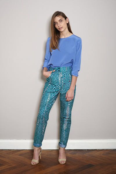 PRINT PANTS africa green