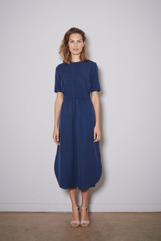 PAXTONIA EASY DRESS navy blue tencel