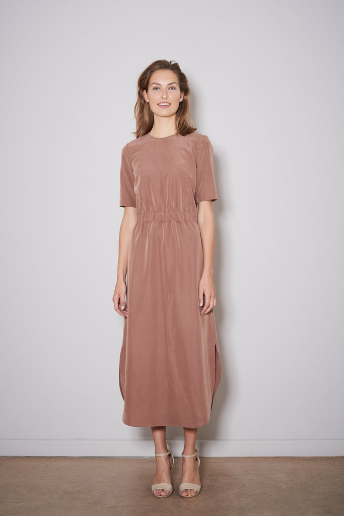 PAXTONIA EASY DRESS rust modal