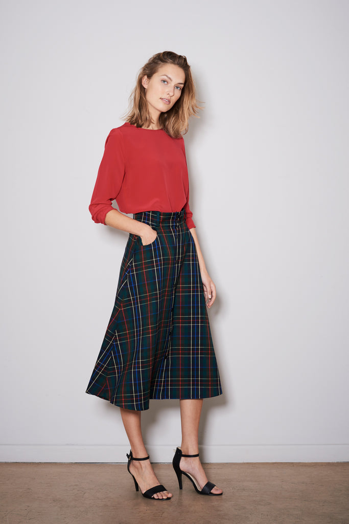 SIMPLE WAIST SKIRT tartan