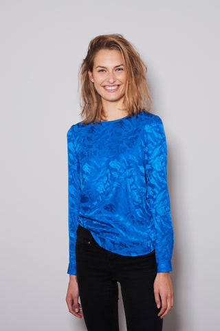 FAUNA BLOUSE royal blue