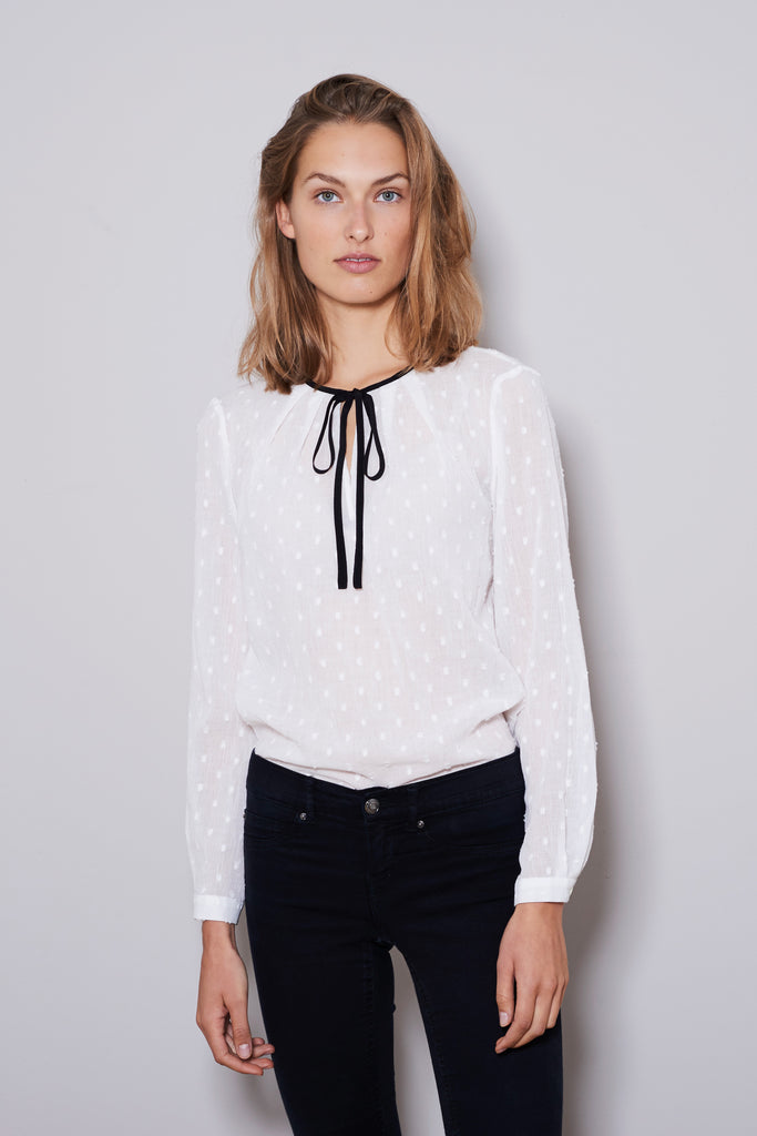 RODEO BLOUSE longsleeve white