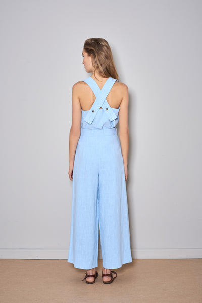 PAN LINEN PANTS baby blue