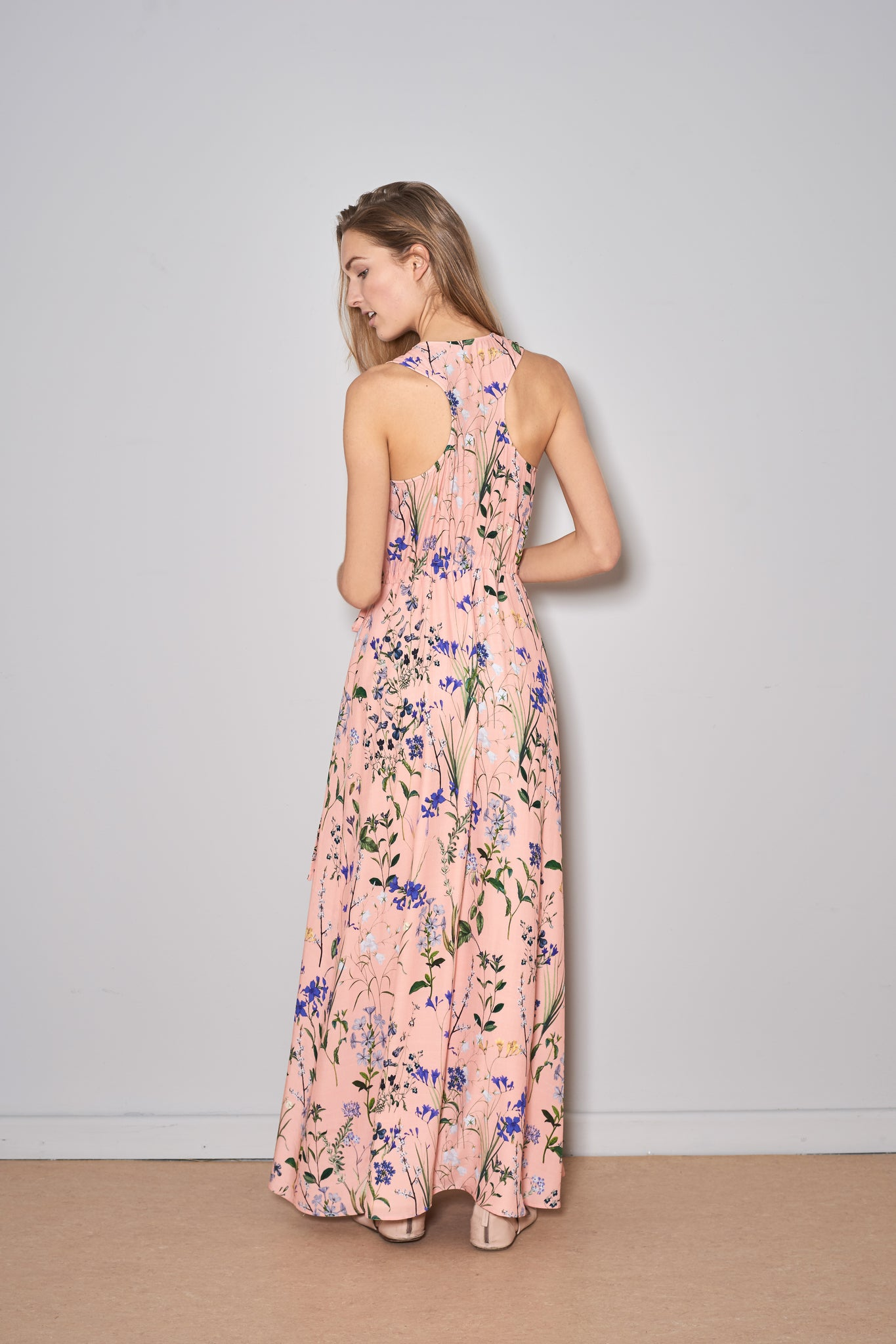 BALLET DRESS blush flowers viscose