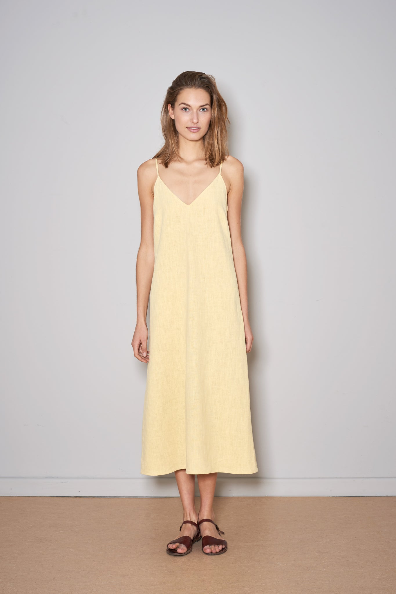 METHA LINEN DRESS vanilla linen