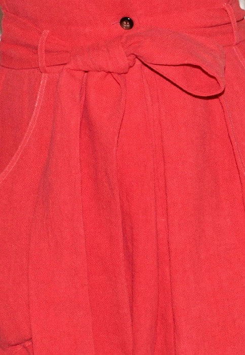 ATLANTIS SKIRT washed linen red