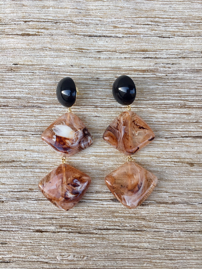 HASH KEY EARRINGS amber melange