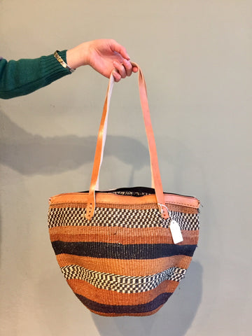 SISAL SHOPPER stripes