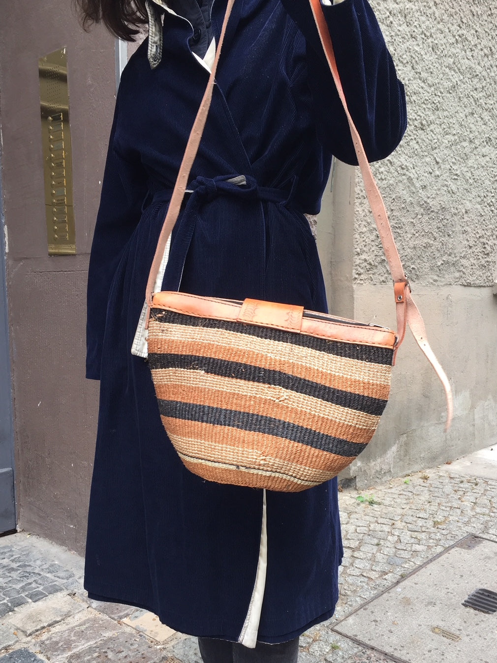 SISAL PURSE striped
