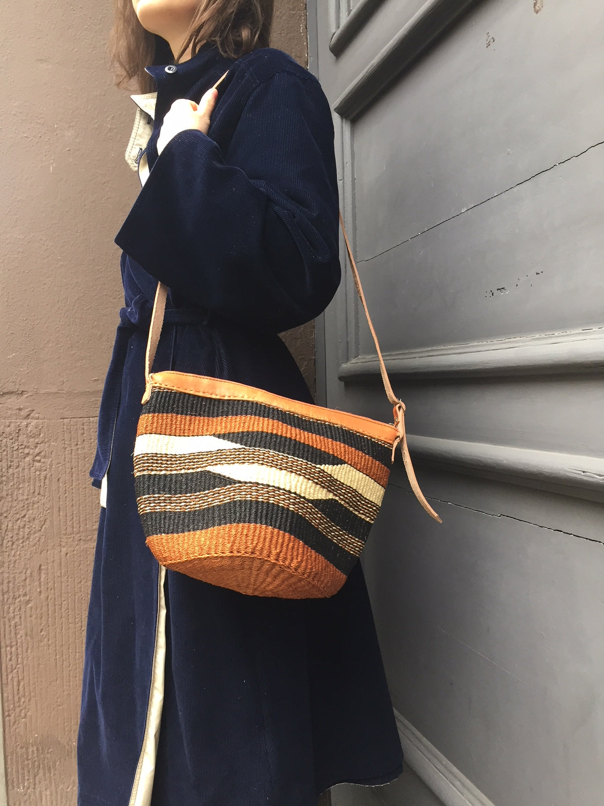 SISAL PURSE striped pattern