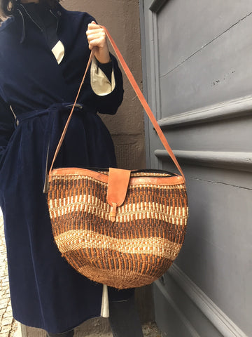 SISAL SHOPPER chestnut pattern