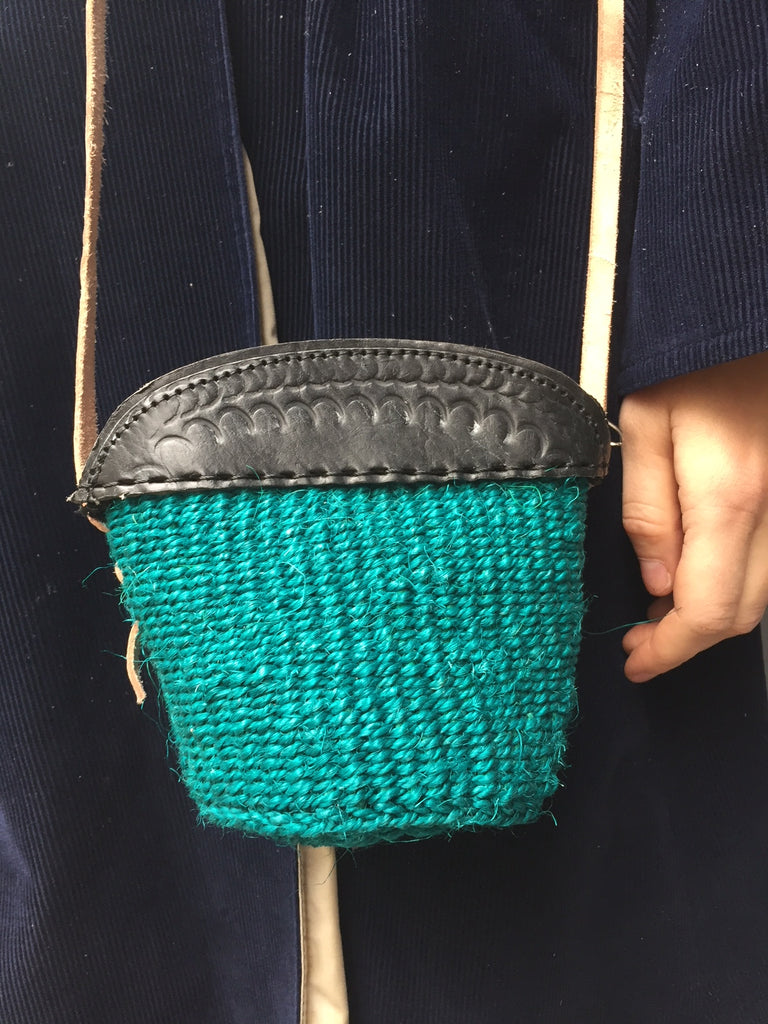 MINI SISAL PURSE petrol