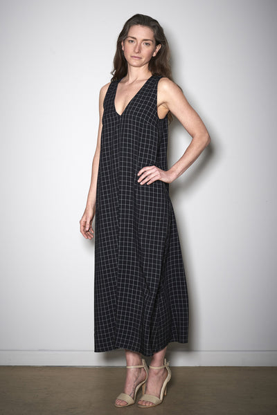 AREZZO CHECK DRESS black